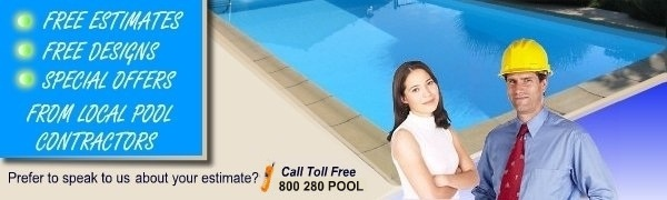 Free inground swimming pool building estimates from local pool designers an contractors.