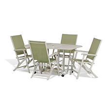 Coleman Rollaway Aluminum Table/Chair Patio Set With Storage Cover